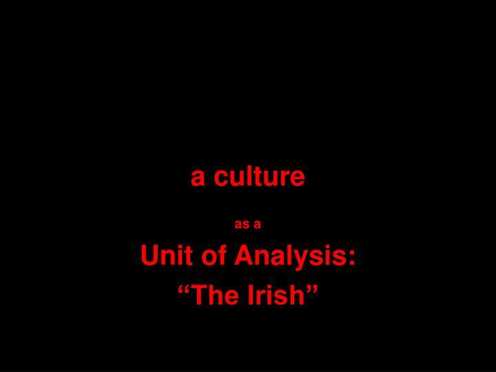a culture