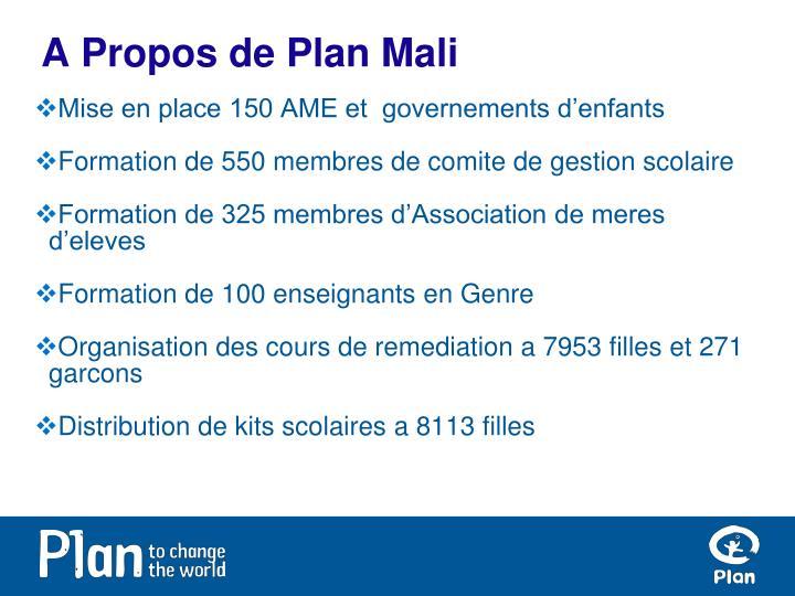 A Propos de Plan Mali