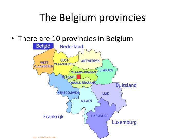 The Belgium provincies