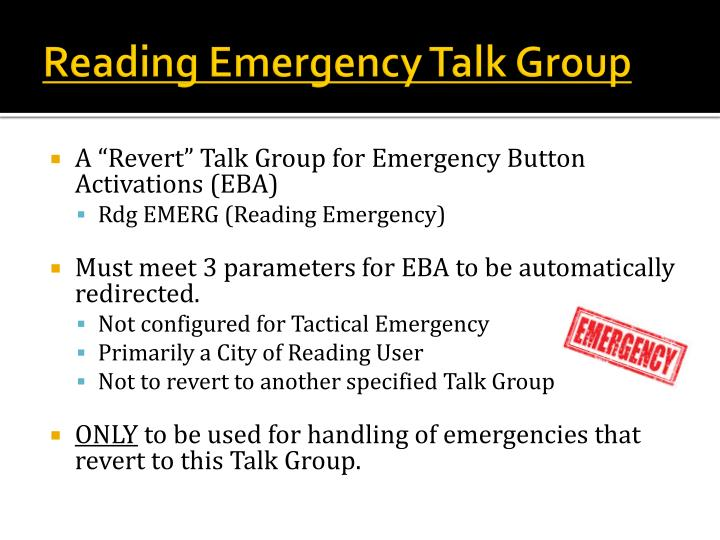 Reading Emergency Talk Group