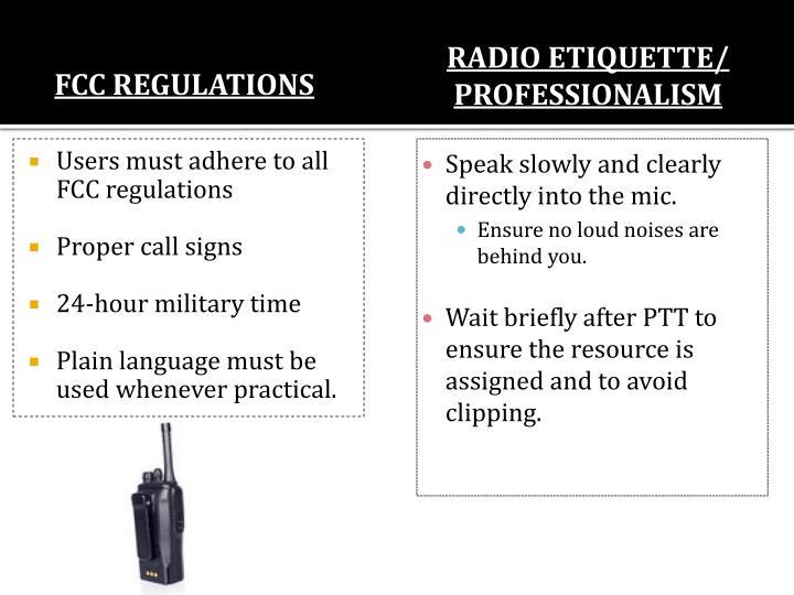 Radio Etiquette/ Professionalism