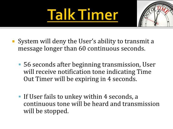 Talk Timer