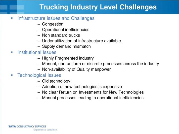 Trucking Industry Level Challenges