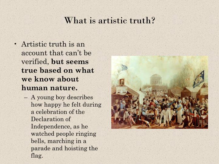 What is artistic truth?