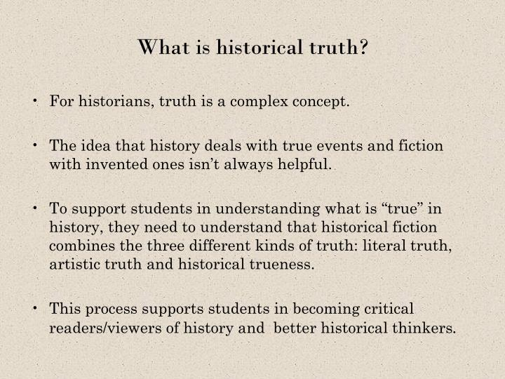 What is historical truth?