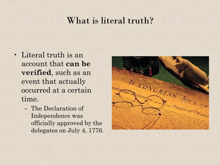 What is literal truth?