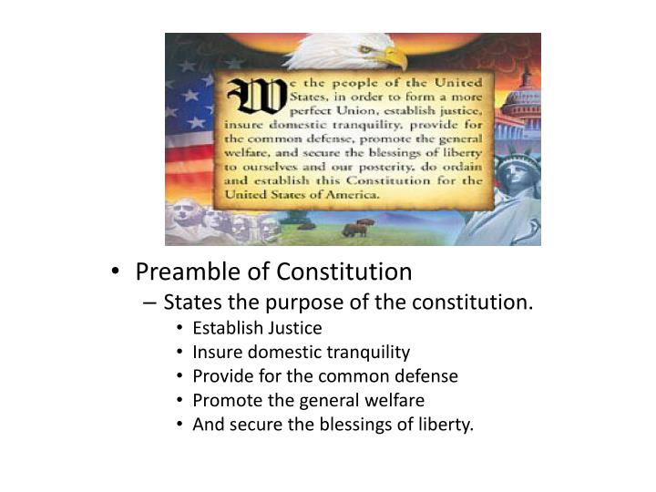 Preamble of Constitution