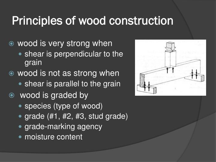Principles of wood construction