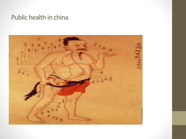 Public health in china