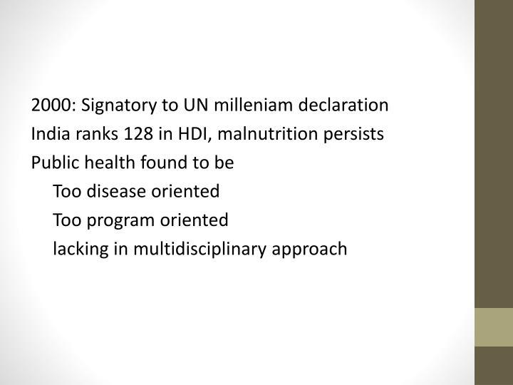2000: Signatory to UN