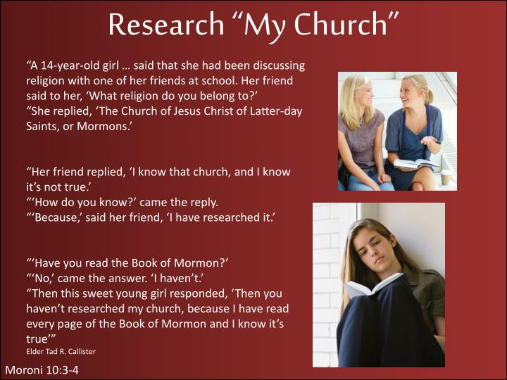 "Research ""My Church"""