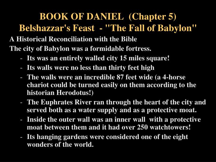 Book of daniel chapter 5 belshazzar s feast the fall of babylon2