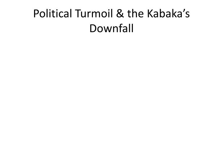 Political Turmoil & the