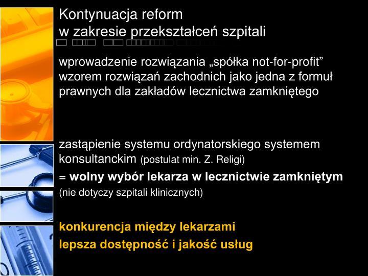 Kontynuacja reform