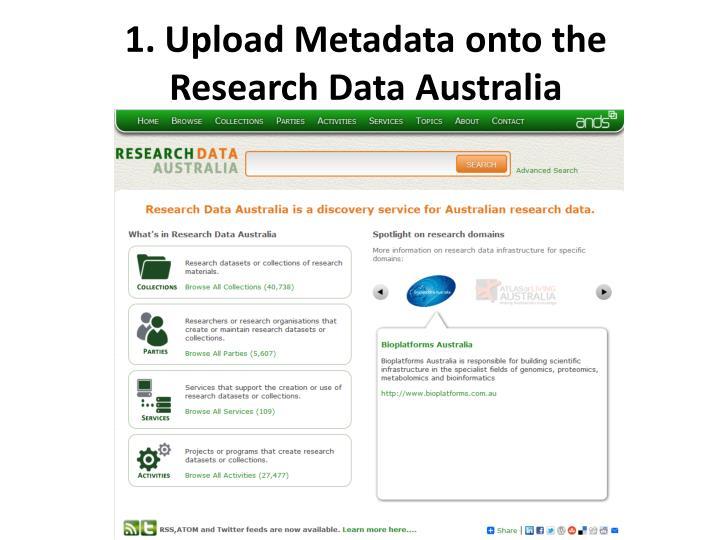 1. Upload Metadata