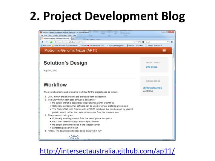 2. Project Development Blog