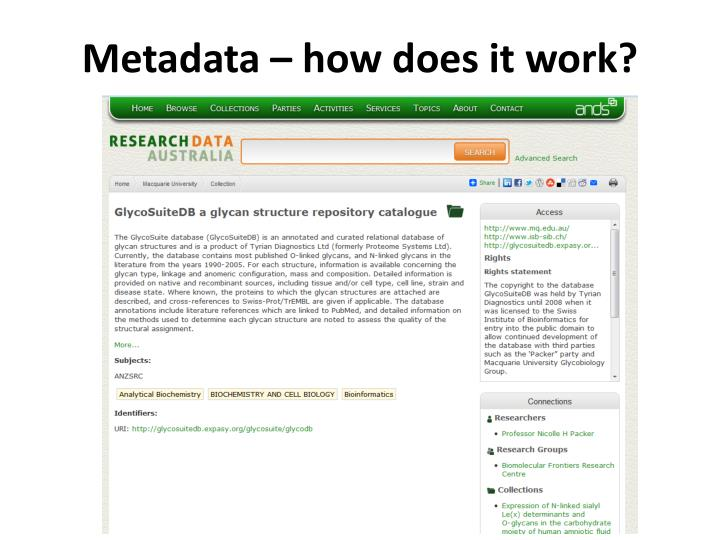 Metadata – how does it work?