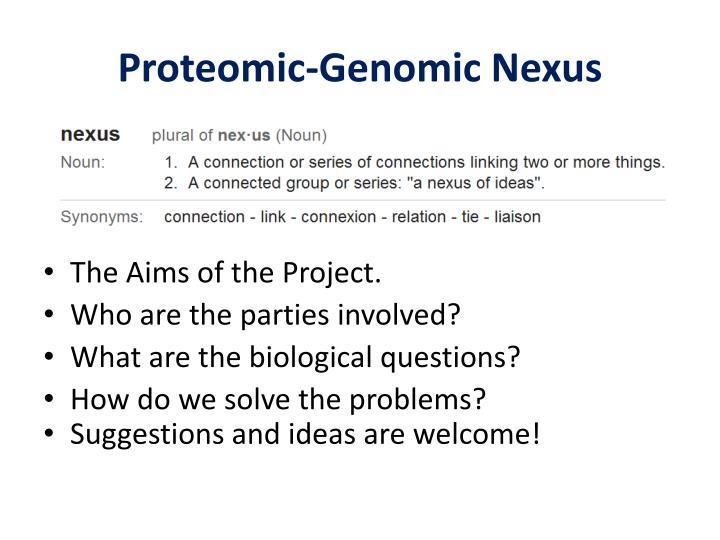 Proteomic-Genomic