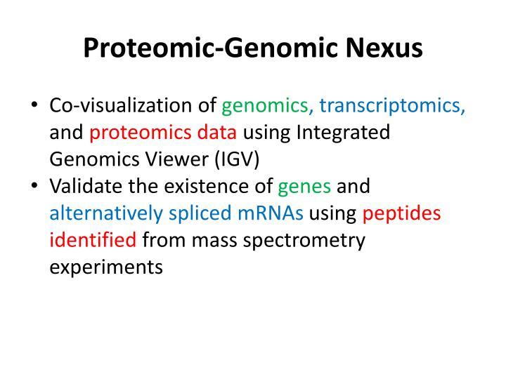 Proteomic-Genomic Nexus