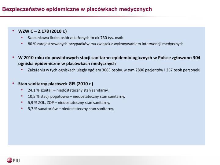 Bezpieczeństwo epidemiczne w placówkach medycznych