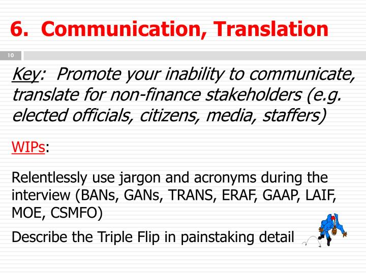 6.  Communication, Translation
