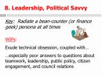 8 leadership political savvy