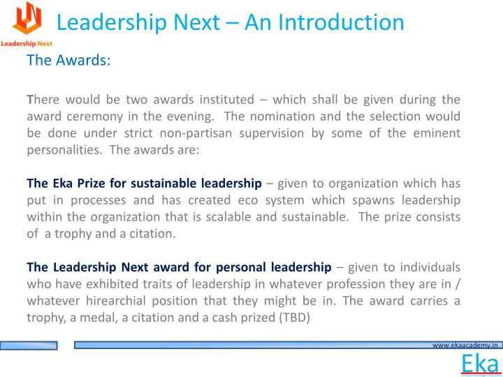 Leadership Next – An Introduction