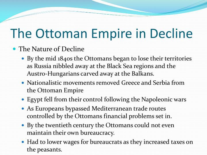 The Ottoman Empire in Decline