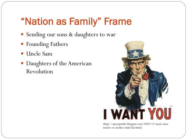 """""""Nation as Family"""" Frame"""