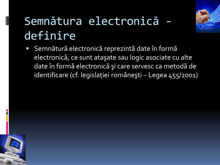Semnătura electronică - definire