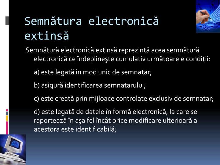 Semnătura electronică extinsă