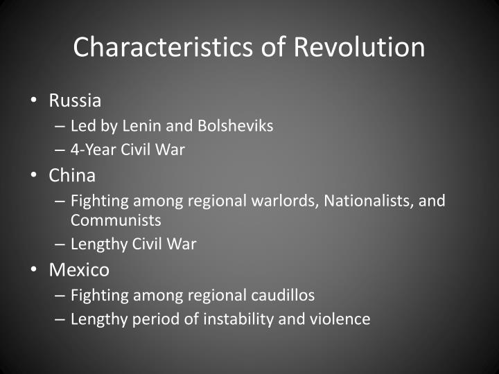 Characteristics of Revolution