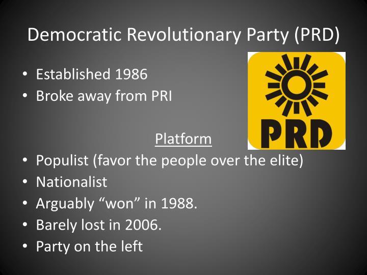Democratic Revolutionary Party (PRD)