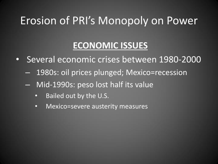 Erosion of PRI's Monopoly on Power