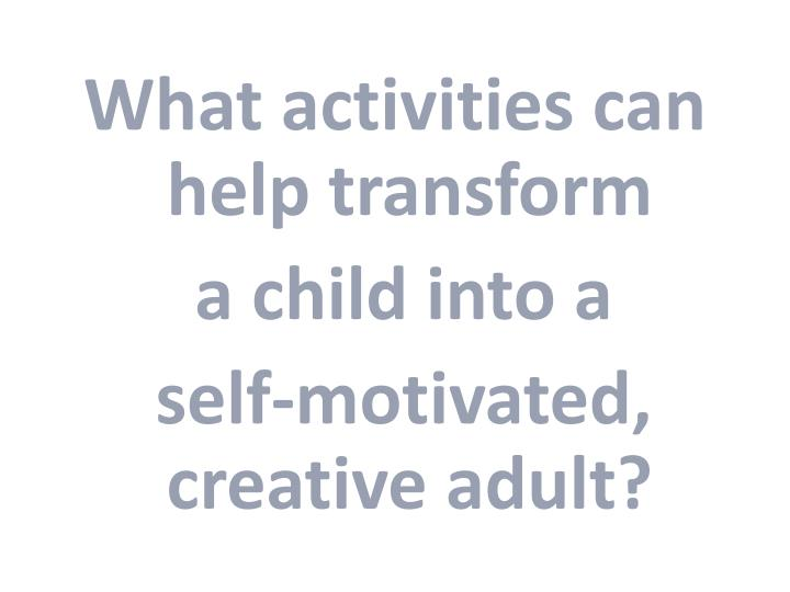 What activities can help