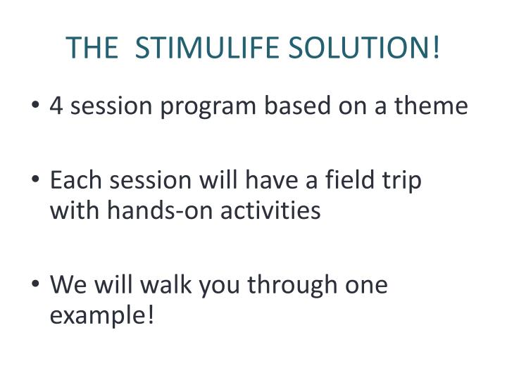THE  STIMULIFE SOLUTION!