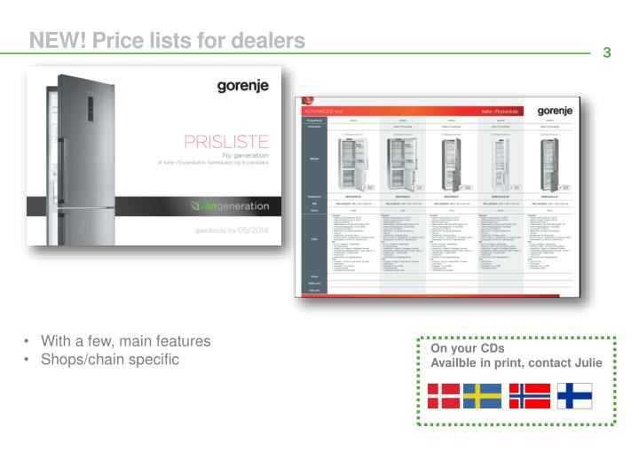 NEW! Price lists for dealers