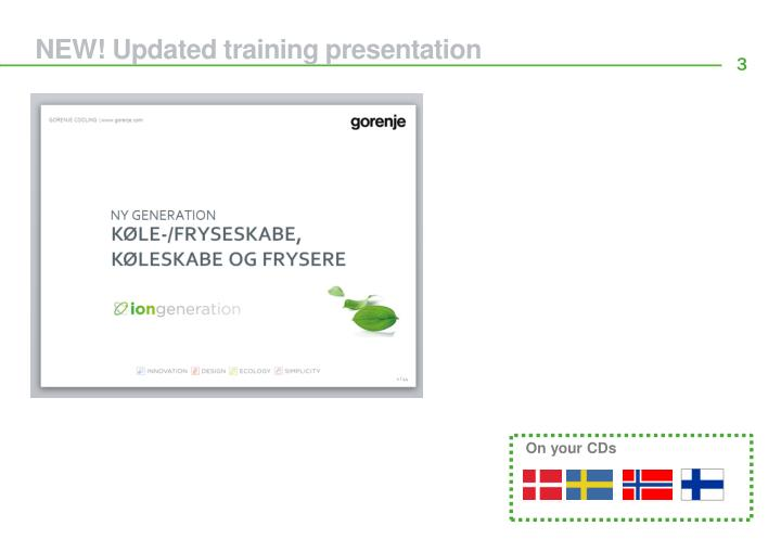 NEW! Updated training presentation