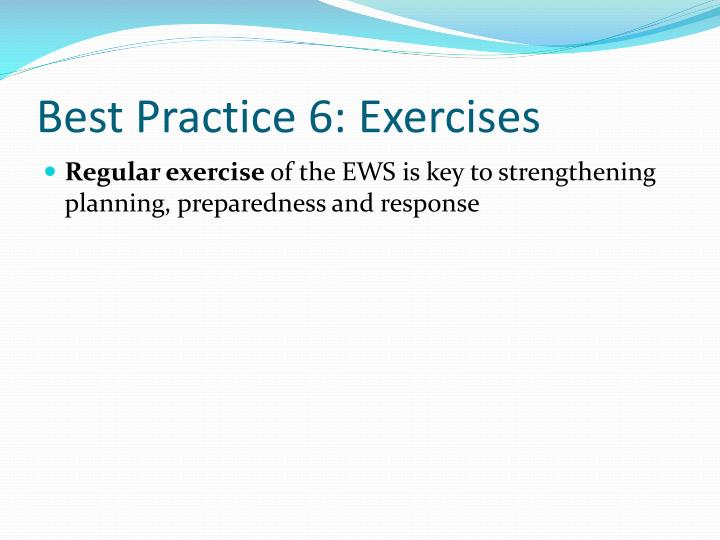 Best Practice 6: Exercises