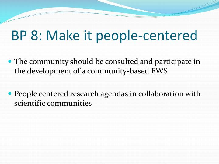 BP 8: Make it people-centered