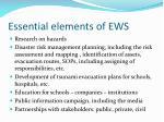 essential elements of ews
