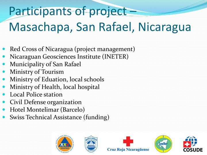 Participants of project – Masachapa, San Rafael, Nicaragua