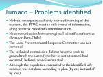 tumaco problems identified