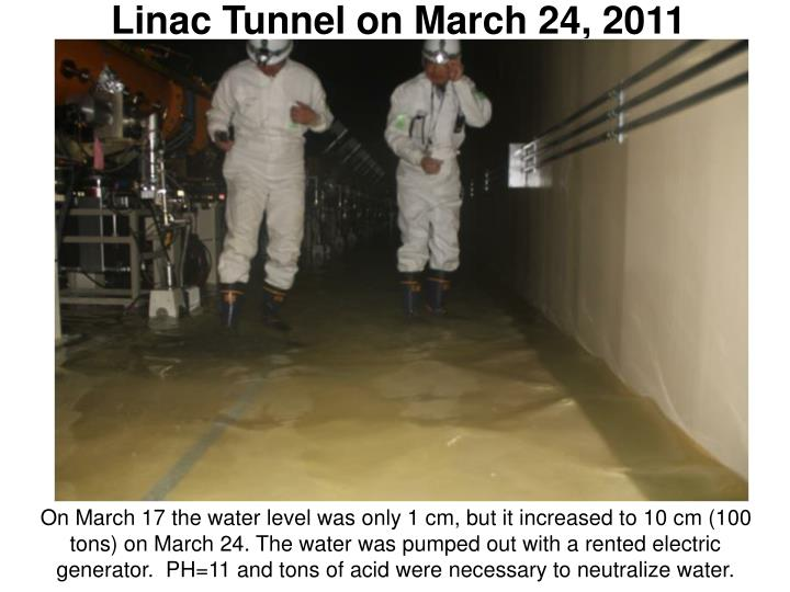 Linac Tunnel on March 24, 2011