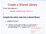 create a shared library