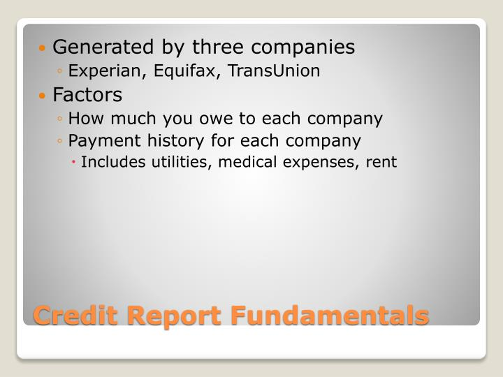 Generated by three companies