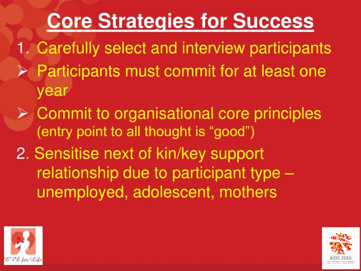 Core Strategies for Success
