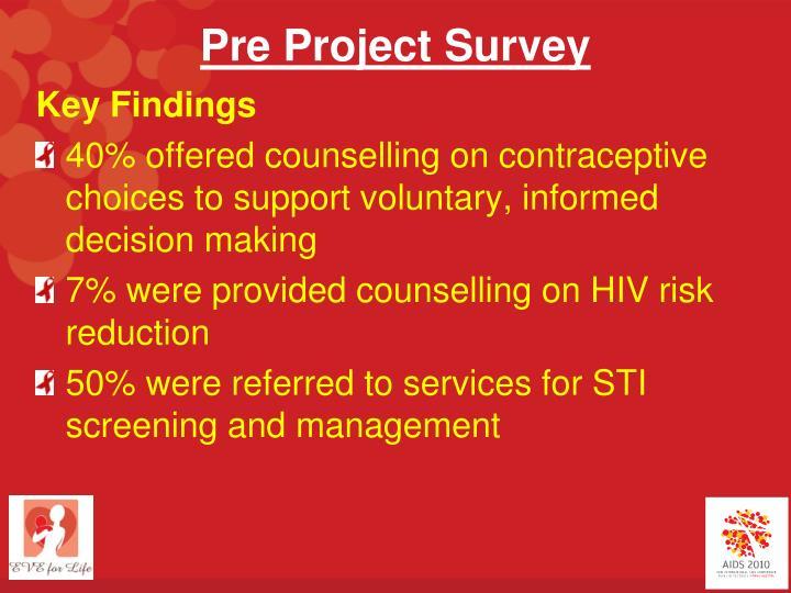 Pre Project Survey