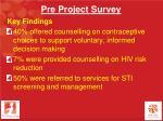 pre project survey1