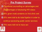 pre project survey2